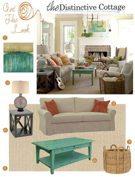 cottage look living room cottage style living room get the look