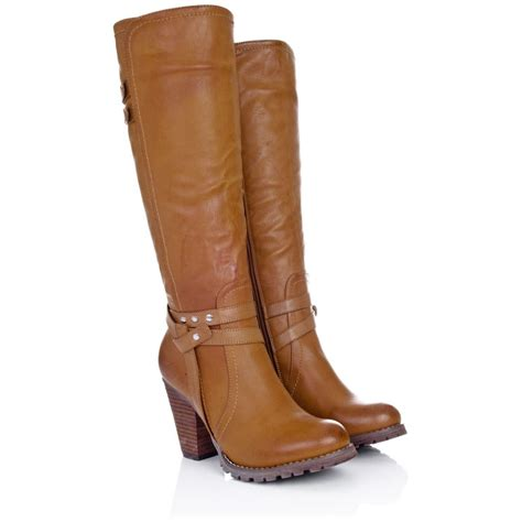 heeled biker boots new high heel tan leather boots high heels