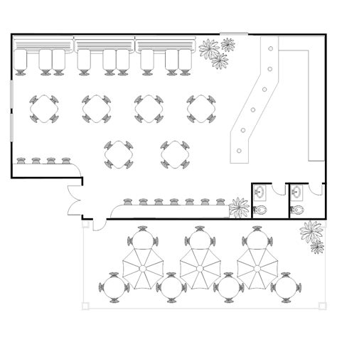 Garden House Plans by Coffee Shop Floor Plan