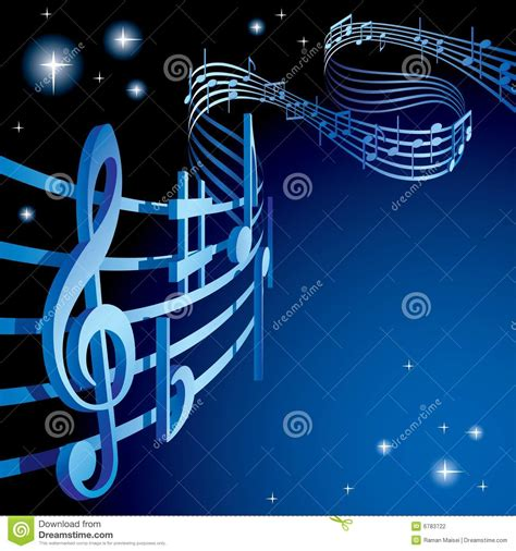 Background Themes Songs | background on a musical theme stock vector illustration