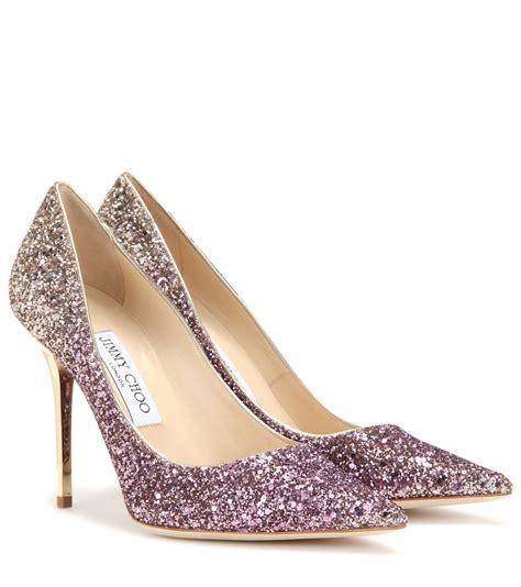 jimmy choos shoes jimmy choo agnes ombr 233 glitter pumps lyst