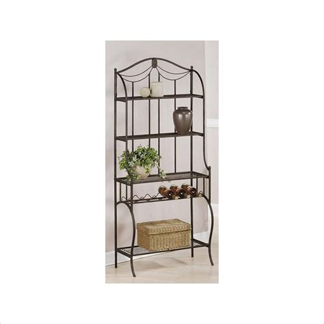corner bakers rack with wine rack hillsdale camelot w wine storage black bakers rack ebay