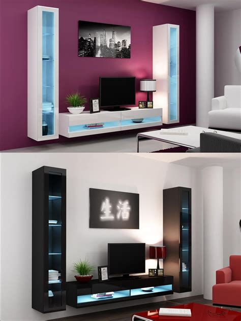 High Gloss Living Room Furniture Tv Stand Wall Mounted Gloss Living Room Furniture