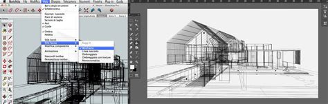 sketchup layout wireframe architectural watercolors by atelier crilo 3d