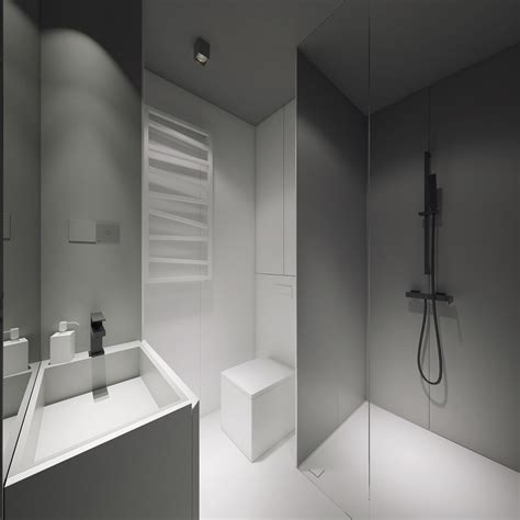 3 Light White And Minimalist Homes Inspiring Clarity Of Mind Grey Bathroom Fixtures