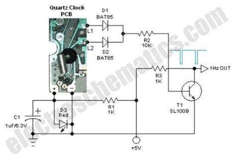 clock generator circuit diagram quartz 1hz timebase measuring and test circuit circuit
