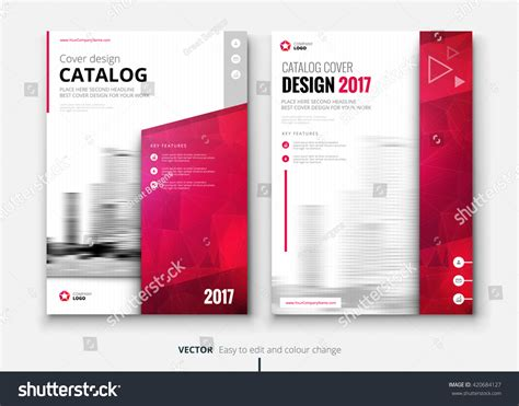 catalogue layout vector catalog design corporate business annual report stock