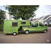 Camping Car Semi Remorque Pick Up Avec Clipcar Sur Renault Trafic