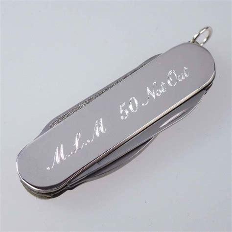 Swiss Army Sa2020 Silver White Original personalised silver swiss army knife by hersey silversmiths notonthehighstreet