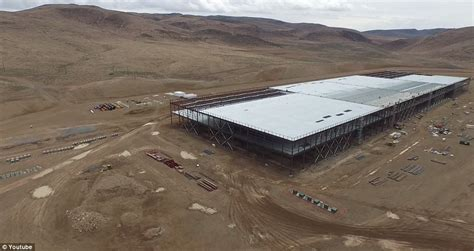tesla s new gigafactory near reno captured in hd by drone