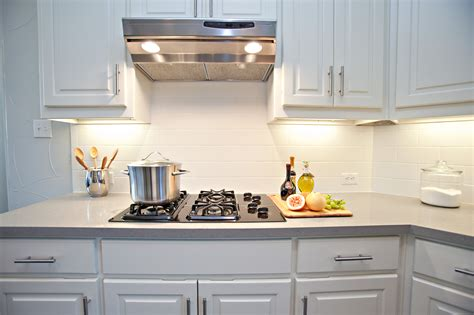 white tile kitchen white subway tile backsplash