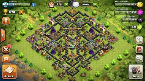 coc layout th9 new clash of clans 4th mortar th9 layout war base clash