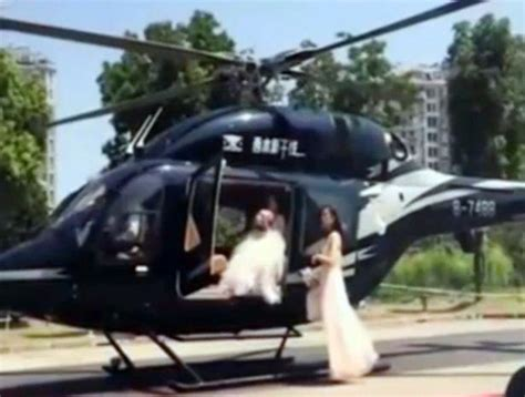 Wedding Traffic wedding helicopter lands in middle of traffic arabia