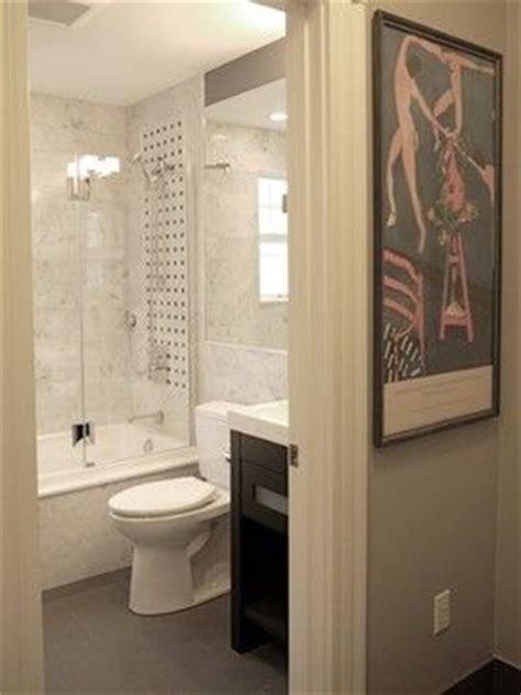 small bathroom apparently  clean  light