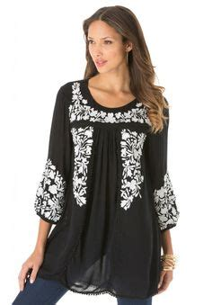 Talla Tunik lucky brand embroidered top plus size available
