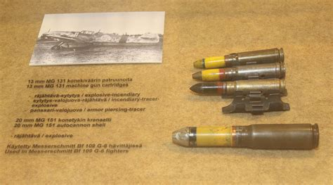 File Various Ammunition Jpg Wikimedia Commons File 13 Mm Mg 131 20 Mm Mg 151 20 Ammunition Keski Suomen