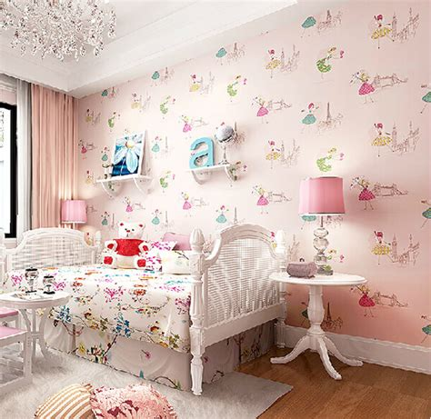 wallpaper for girls bedroom 27 cute kid s room wallpaper ideas design swan
