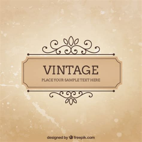 vintage templates for word vintage frame template vector free download