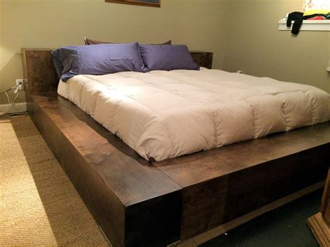 Handcrafted Headboards - donnelly atlanta custom platform bed w covert gunsafe
