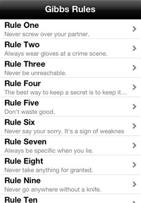 gibbs rules the complete list from ncis page 2 ncis free download whats app