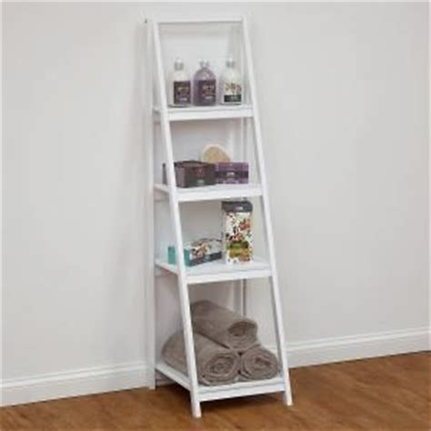 4 tier bathroom ladder shelf white decor ideas