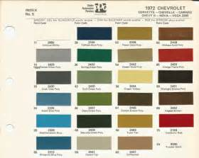 chevy colors 1972 chevrolet chevelle oem car paint colors