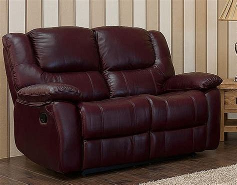 2 Seater Reclining Leather Sofa by Harvey Reclining 2 Seater Leather Sofa Burgandy