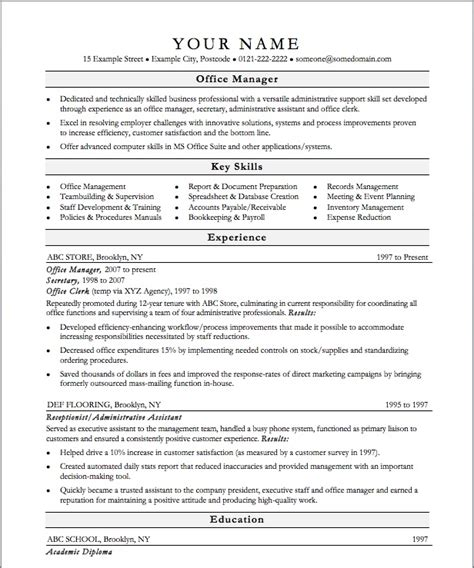 best resumes for office manager best office manager resume best resume gallery