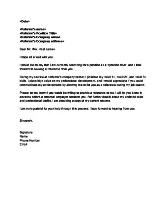 Requesting A Service Letter From Previous Employer sle letter requesting reference from previous employer
