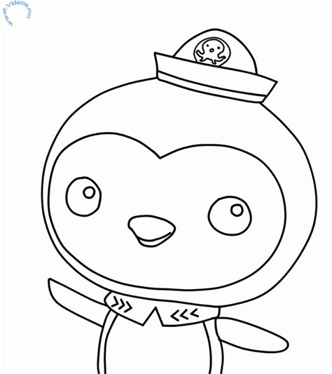 octonauts templates peso penguin from the octonauts coloring page mn