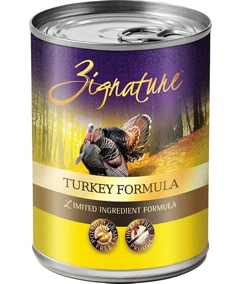 can dogs turkey zignature turkey food can