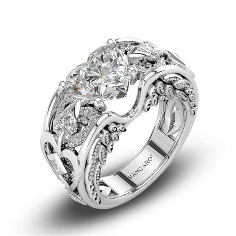 sterling silver engagement ring with cut lab created