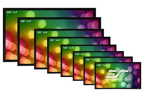elite screens sable frame  series active   ultra hd