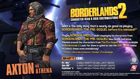 borderlands the pre sequel shift codes gamesradar here s axton s borderlands the pre sequel shift code for