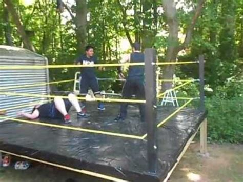 how to make a backyard wrestling ring backyard wrestling stairway to heaven title match part