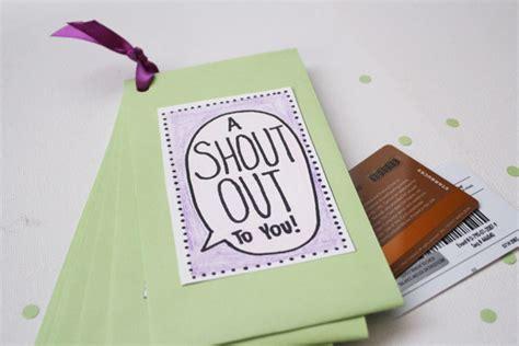 Gift Card Booklet - class teacher appreciation gift gift card book 30 minute crafts
