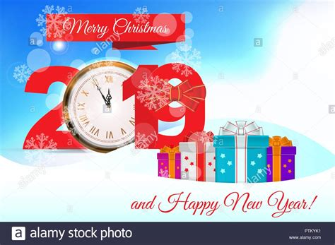 vector christmas greeting card template merry christmas  happy  year design