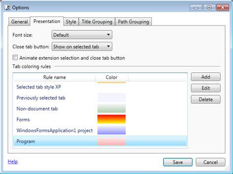 biual chat room style tabs studio visual studio extension