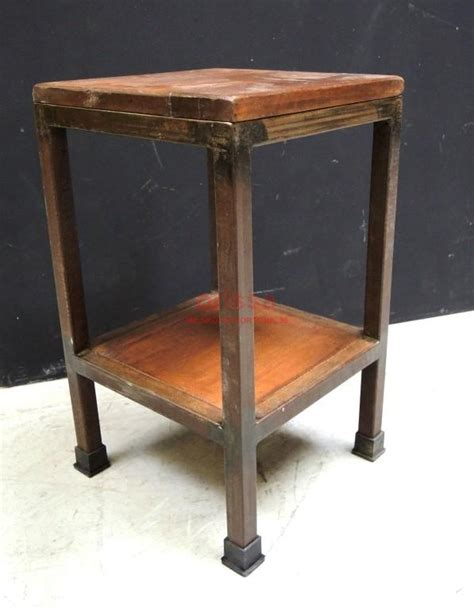 comodino legno comodino ferro e legno f9n36 orissa