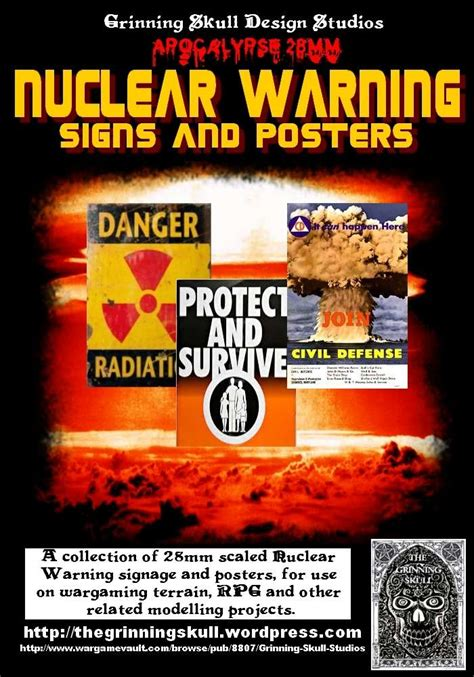 apocalypse mm nuclear warning signs posters