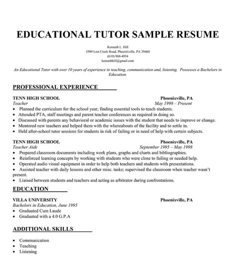 Resume Sles Of College Students Student Tutoring Resume Sales Tutor Lewesmr