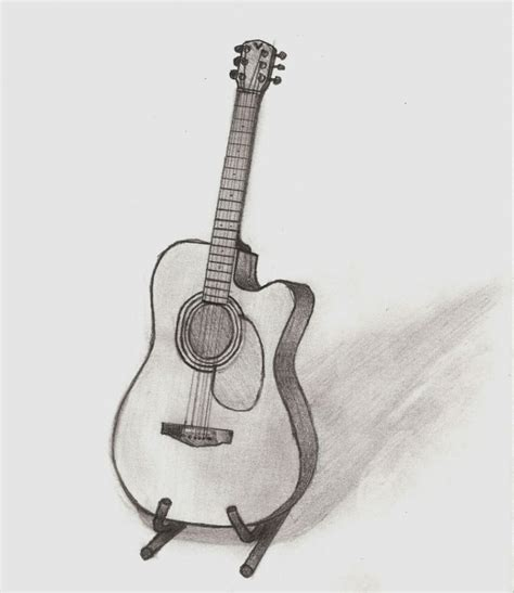 guitar on stand room pinterest guitars drawings