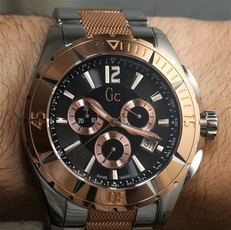 Gc G3000 Gold White Leather guess gc sport class review ablogtowatch