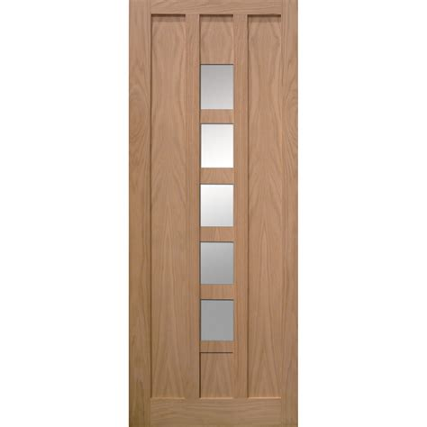 Kendal Oak Veneer 5 Lite Glazed Interior Door Next Day Interior Doors