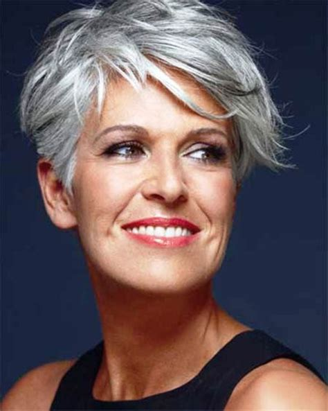 50 year old women with short grey hair short hair styles for over 50 gray short hairstyle 2013