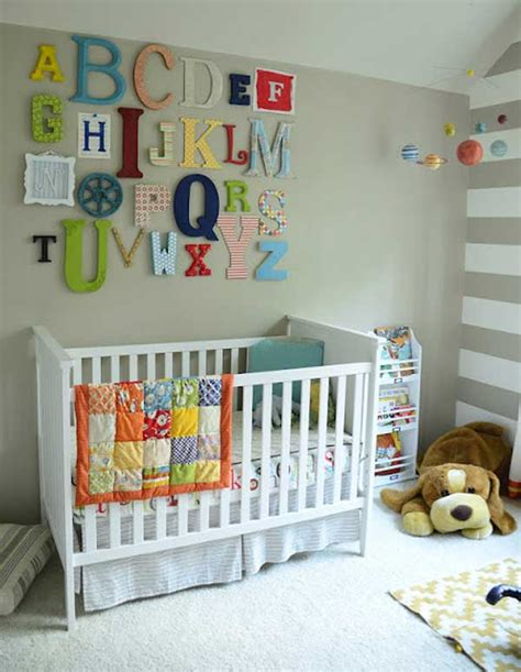 Baby Nursery Decor Colourful Alphabets Letter On Wall Nursery Decor