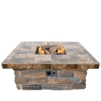 Pit Rocks Home Depot by Cal 48 In Propane Gas Pit In