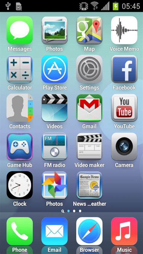 ios 7 launcher apk rui iphone v1 0 free - Iphone Launcher Apk