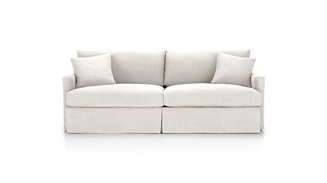 Crate And Barrel Lounge Sofa Slipcover by Lounge Ii White Slipcover Crate And Barrel