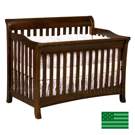 Usa Baby Cribs Amish Belmont 4 In 1 Convertible Baby Crib Solid Wood Made In Usa American Eco Furniture
